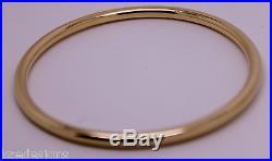 9ct FULL SOLID Heavy ROSE gold 375, 4mm wide GOLF bangle 65mm inside diameter