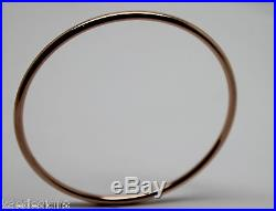 9ct Rose gold 3mm wide Hollow GOLF bangle 70mm diameter FREE EXPRESS POST IN OZ