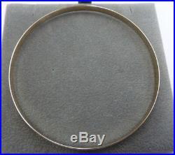 9ct Solid Gold Slave Bangle D- shaped 4mm wide 5.4 grams Patterned