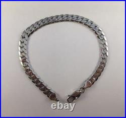9ct White Gold Curb Bracelet LADIES OR MENS 6mm Wide 8 Length 9.9g NEW