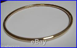 9ct yellow gold 3mm wide Hollow GOLF bangle 68mm diameter FREE EXPRESS POST OZ