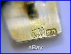 ANTIQUE HIGHLY DETAILED 14k Pink Rose Gold EXTRA WIDE BRACELET 24.9 grams