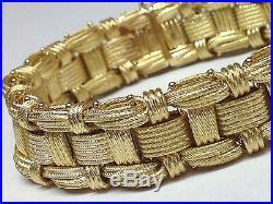 Amazing! Wow! 18k Yellow Gold Wide Bracelet 7.5