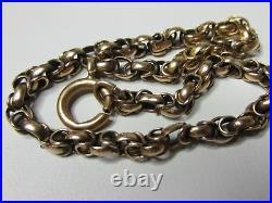 Antique 14K Solid Rosey Gold Fancy Knot Link Bracelet 7 Long 3mm Wide