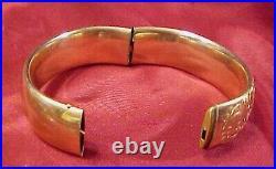Antique Estate Wide Edwardian Gold Filled Bangle Bracelet