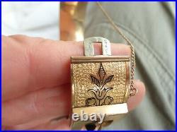 Antique Victorian Belt Buckle Gold Filled Chase Hinged Wide Bangle Bracelet 1880
