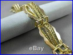 Antique Wide 18k Yellow & Rose Gold Filigree Handcrafted Bracelet Unique! #22587