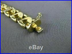 Antique Wide. 40ct Diamond 14kt White & Yellow Gold Swirl Link Bracelet #18710