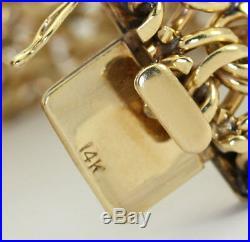 Antique estate Cartier charm bracelet 14K yellow gold 8 1 wide 127.3G C 1950's
