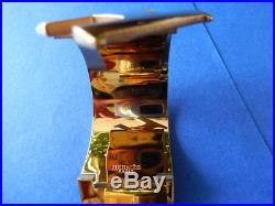 Authentic Hermes Clic Clac H Enamel White/GOLD PLATED Extra Wide Bracelet Cuff P