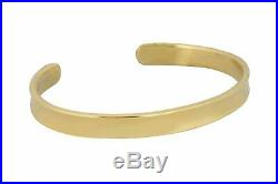 Authentic Tiffany & Co. 18K 750 Yellow Gold 7mm Wide Cuff Bangle Bracelet