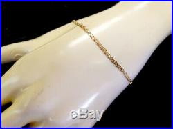 BEAUTIFUL 14K YELLOW GOLD BISMARCK BRACELET 7.5 2.3mm wide