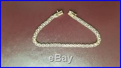 Beautiful 14k solid gold bismark chain bracelet 3.5g 15.1cm long and 3-4mm wide