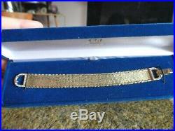 Beautiful Imperial Gold Lame Diamond Buckle Heavy Wide Bracelet NIB