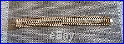 Beautiful Wide Woven Bracelet in Solid 14K Italian Gold! 27 Grams