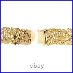 Bellarri Stunning Pearls 14k Yellow Gold Sea Life 31mm Wide Flex Bracelet