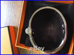 Brand New HERMES Wide Uni Hinged Bracelet Rose Gold/Beige (Taupe) Medium