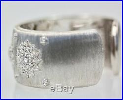 Buccellati White Gold Wide Diamond Bracelet 18K