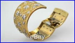 Buccellati Wide Full Diamond Bracelet 18 Karat 5-6 Carats