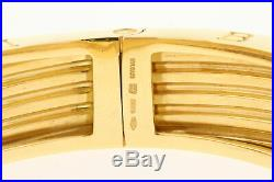 Bvlgari Bulgari B. Zero1 18k Yellow Gold Wide Bangle Bracelet B Zero 7.5 87g