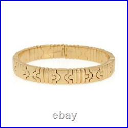 Bvlgari Bulgari Parentesi 18k Yellow Gold 10mm Wide Cuff Bracelet