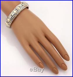 Bvlgari Bulgari Vintage 18k YGold & Steel Parentesi Wide Flex Bracelet