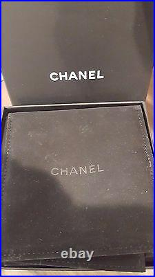 CHANEL Crystal Cuff Bracelet Wide Pink Purple Yellow Floral GHW 2015 S Box Pouch