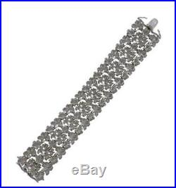 Carrera y Carrera 18K White Gold Diamond Bracelet X-Wide Certificate Orig Box