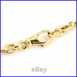 Cartier 18k Yellow Gold 5mm Wide Flat Oval Link Bracelet