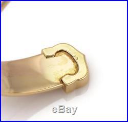 Cartier Double C 18k Tricolor Gold 11.5mm Wide Cuff Bracelet
