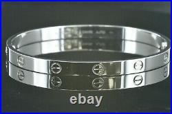 Cartier Love Bracelet White Gold Size 20 6mm Wide