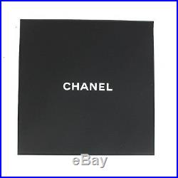 Chanel New 2018 Bracelet Wide Cuff -Black Gold Logo CC Charms XS Extra Small