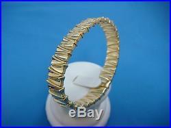 Chimento 18k Yellow Gold Designer Bangle Bracelet 10.5 MM Wide, 17 Grams