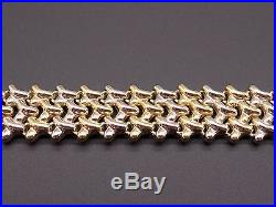Chimento 18k Yellow White Gold 15mm Wide Mesh Link Chain Bracelet 7 inch