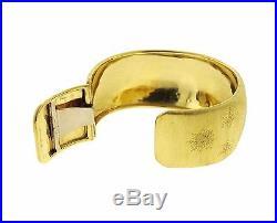 Classic Buccellati 18k Gold Wide Cuff Bracelet