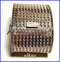 Curtis J Lewis Estate 104.5gram 18k Rose Gold Wide Woven Soft Bangle Bracelet