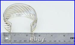 David Yurman 925 Silver 750 Yellow Gold Thoroughbred Wide Cuff Bracelet