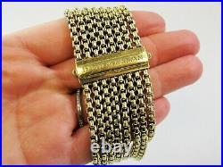 David Yurman Bracelet 18 KT Yellow Gold Wide 8 Row Box Chain RARE 87.2 Grams