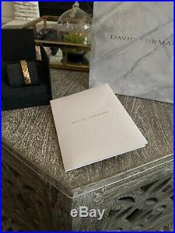 David Yurman Mens Cable Classics Wide Cuff Bracelet In 18k Gold, 11mm Size M
