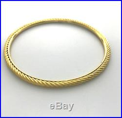 David Yurman Women's Cable Bangle 18K Yellow Gold 3mm Wide