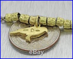 DoDo Pomellato Solid 18k Yellow Gold 3mm Wide Bird Charm Toggle Bracelet J8