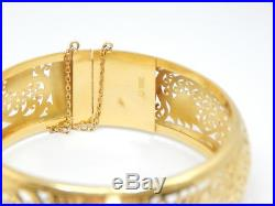 ESTATE 22K YELLOW GOLD BRACELET 7/8 INCH WIDE FITS 6.5 INCH SAFETY CHAIN 40.9g