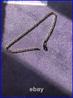 EXCELLENT 10K YELLOW GOLD FIGARO BRACELET or ANKLET, APPROX. 10x 3.6 mm WIDE