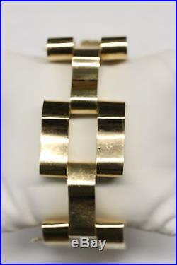 EXTRA WIDE 1940s RETRO 14K Yellow Gold Flex Link Bracelet MINT CONDITION