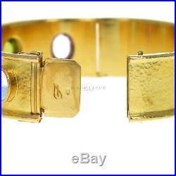 Elizabeth Locke Wide Tutti Frutti Cabochon Bangle, 19K Yellow Gold
