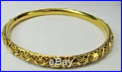 Estate 21K YG 8 1/4 Heavy Bangle Bracelet 16.5 Grams 1/4 Wide