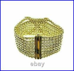 Estate 2.20 Carats David Yurman Diamond X Bracelet Solid 18K Gold 1.25 Inch Wide