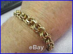 Estate Charm Bracelet 14k Gold 7-1/2 inches Long x 3/8 inch Wide Make Offer