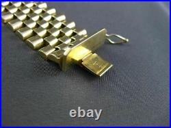 Estate Large & Wide 5.0ct Round Diamond 14kt Yellow Gold Multi Row Mens Bracelet