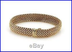 Estate Tiffany & Co. 18k Yellow Gold 10mm Wide Woven Flex Bracelet